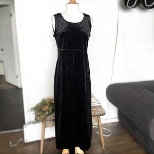 Vintage Velvet Maxi Dress